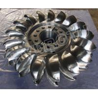 Stainless steel 0Cr13Ni4Mo Forged CNC Pelton Turbine Runner / Pelton Wheel with Diameter Below 2.5m