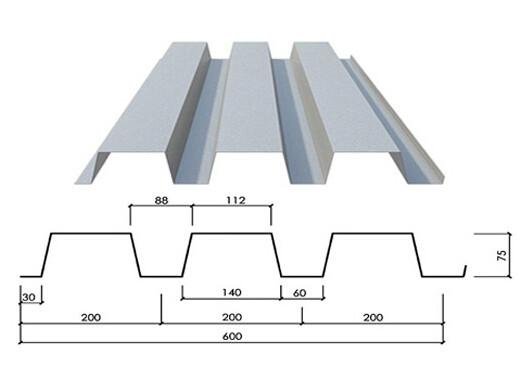 Steel structure galvanized metal decking sheet for for Mezzanine floor construction details