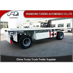 China 2 Axles Drawbar Trailer Custom Side Wall With Turntable Mechanical / Air Suspension on sale