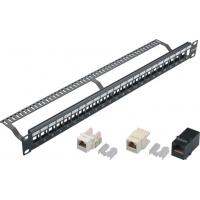 24 Port Blank Keystone Network Patch Panel with Cable Manager Wall Mount