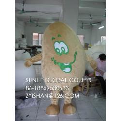 China dark potato mascot costume/customized fur fruit mascot costume on sale