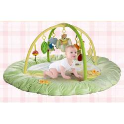 China Promotional Light Green Large Baby Play Gyms For Baby Sleeping on sale