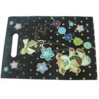 CYMK Color Gift Wrapping Paper Bag With Die Cut Handle Recycled Paper Bags