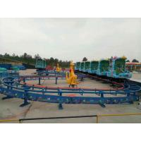 4 - 7km/H Speed Mini Roller Coaster 380v 8.8kw Rated Power 1.4m * 90cm Trolley Size