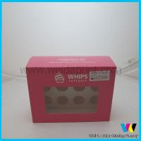 China disposable clear pvc window cupcake boxes wholesale