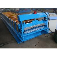 Corrugated Roof Panel Roll Forming Machine , Colour Coated Roofing Sheets Machinery