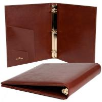 leather book cover, leather ring binder