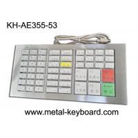 Mechanical Ruggedized Keyboard , Stainless Steel Panel Keyboard