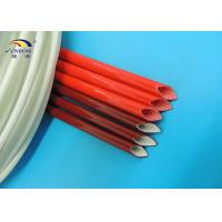 Flame Retardant Red Silicone Fiberglass Sleeve For Insulating Protection