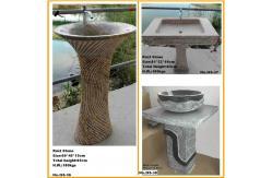 bassin en pierre naturel d 39 vier de pi destal pour. Black Bedroom Furniture Sets. Home Design Ideas