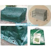 Green Waterproof pe plastic outdoor garden furniture covers,lounge bench covers,funiture series,garden bench cover, bag