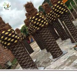 China UVG PTR056 big artificial tree trunk with fake coconut palm trees for park landscaping on sale