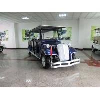 Blue Old Style Electric Classic Car 6 Seats 48 Voltage Battery Powered