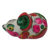 clay sculpture Chinese Zodiac business gift  painted mouse  birthday gift