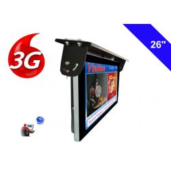 China Android 3G / 4G Network Bus LCD Display Screen 1920 X 1080 Ceiling Mounted Installation on sale