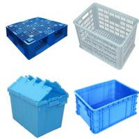 Stainless Steel SUS304 Plastic Crate Washing Machine For Food / Poultry