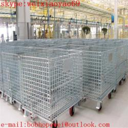 China hot-dipped galvanized stackable storage  cage/pallet cage /security cage /storage cage on wheels/steel storage cabinets on sale
