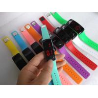 Cheap Promotional Glass Silicone Led Bracelet Wrist Watches With Red Light Time Display In Stock ,Fast Delivery