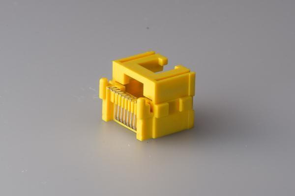 China Yellow Color RJ45 Modular Jack , Rj45 Shielded Connector Single Port UL Certification supplier