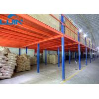 2 Levels Industrial Storage Rack Steel / Plywood Flooring Custom Size