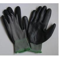 Knitted Seamless Grey Nylon Liner Protective Hand Gloves With Black Nitrile Coated