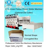 Chrome Surface Grinding Chain Feeding Four-color Flexo Printing Carton Slotting Machine