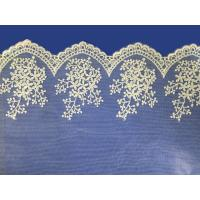 African lace fabrics Embroidery Lace Fabric cord guipure white lace fabric