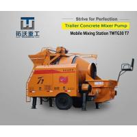 TWTG30 T7 Trailer Concrete Mixer Pump 30m³/H Concrete Out 37KW Moter Power