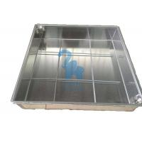 Ground Square Drain Grate Covers Steel Grates For Drainage 600 * 600 * 80mm