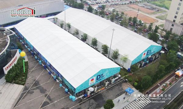 China 40x100m Aluminum Big Exhibition Tent  White PVC Outdoor Tradeshow Car Show supplier