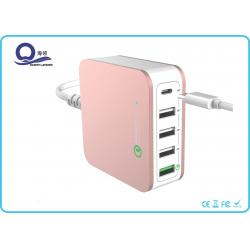 China 40W 5 Ports Type C USB Desktop Charging Station Quick Charger 3.0 with ETLCertified on sale