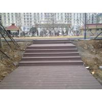 UV Eco-friendly WPC Decking Flooring , Wood Plastic Composite Grey Board