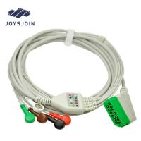 ECG Patient cable Nihon Kohden (13pin) 5 lead ECG Cable with leadwires snap clip AHA/IEC monitor connector cable