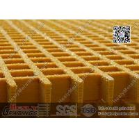 38mm THK Yellow Color Glassfiber Molded Grating ( L2 standard / USCG certificated) | China FRP Grating Factory
