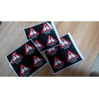 Custom Self Adhesive Paper Laminated Danger / Warning Sign Labels For Illegal Substances