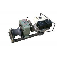 5Ton Petrol Engine Powered winch or Capstan Cable Winch , Gasoline Engine Powered Winch