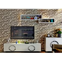 China Champagne Foam Contemporary 3D Home Wallpaper Geometric Pattern for Interior Decor on sale