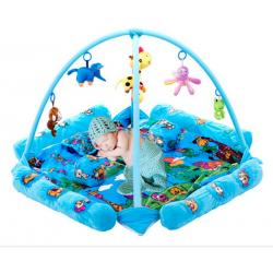 China Seabeach Blue Baby Play Gyms And Mats with Plastic and Stuffed Toys on sale