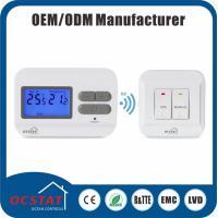 Lightweight Wireless Room Thermostat , Heating Radiator Lcd Room Thermostat