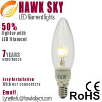 Factory directly price E27 6000k China LED filament lights wholesaler