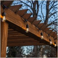 Customized Patio decorative holiday lighting weatherproof commercial string led E27 sockets with 2w S14 led bulbs