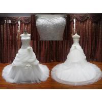 Luxury beaded ruffle tulle wedding dresses