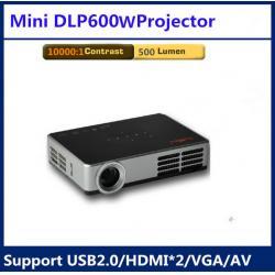 China 500 ISO Lumens Smart LED Projector mini 3D WiFi Beamer in Russian / German Full HD on sale