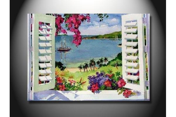 Mcfj1003 eco friendly moda janela paisagem moderna - Pinturas de moda ...