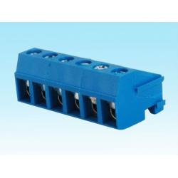 China 300V / 10A blue 9 pole 10 pole 11 pole plug in terminal blocks 5.0 mm Pitch on sale