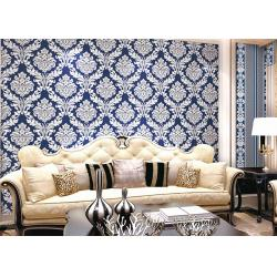 China Modern Style PVC Damask Low Price Wallpaper for Office / House Decoration , SAC CE on sale