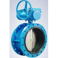 Flanged Resilient Sealing Stainless Steel / Ductile Iron Butterfly Valve 1.0MPa / 1.6MPa