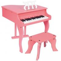 30 Key Pink Mini Grand Toy Wooden Piano With Stool Junior Keyboard Instrument W30