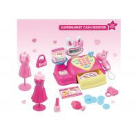 18  Shopping Pretend Play Cash Register Children's Play Toys Pink Caculator Scanner