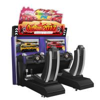 Arcade 32 Inch Outrun Racing Game Simulator Machines Red Color 110v/220v
